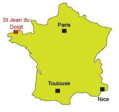 Localisation de St Jean du Doigt