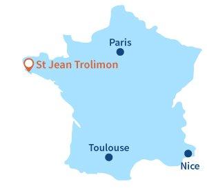 Où se trouve St Jean Trolimon en Bretagne