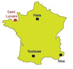 Localisation de St Lunaire en Bretagne