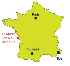 Location of St Martin de Ré in France