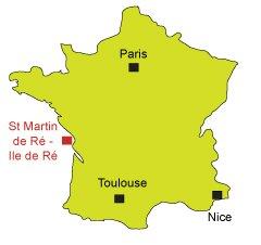Carte de St Martin de Ré