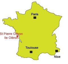 Location of St Pierre d'Oléron in France