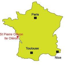 Localisation de St Pierre d'Oléron