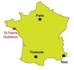 Map of St Pierre de Quiberon in France