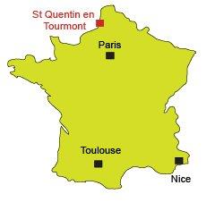 Localisation de St Quentin en Tourmont