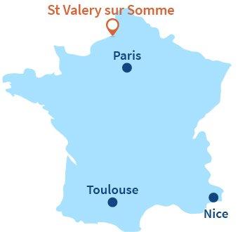 Localisation de Saint Valery sur Somme