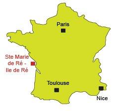 Location of Sainte Marie de Ré in France