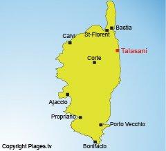 Mappa di Talasani in Corsica