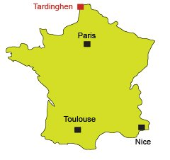 Location of Tardinghen in France