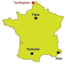 Localisation de Tardinghen dans le Nord
