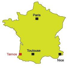 Location of Tarnos in France