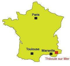 Mappa di Theoule sur Mer in Francia