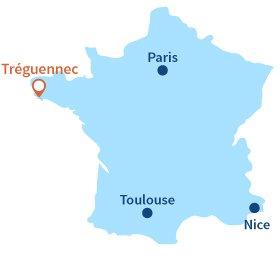Ou se trouve Tréguennec en Bretagne