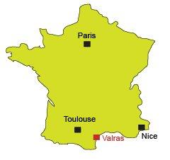 Carte de Valras-Plage