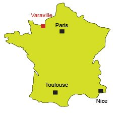 Map of Varaville in Normandy