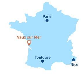 Localisation de Vaux sur Mer en Charente-Maritime