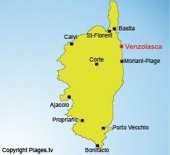 Carte de Venzolasca en Corse