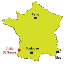 Map of Vielle Saint Girons in France