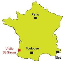 Carte de Vielle Saint Girons dans les Landes