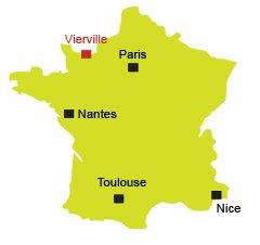 Localisation de Vierville sur Mer en Normandie
