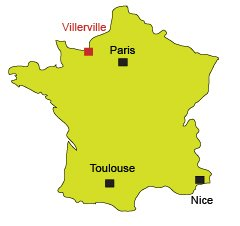 Map of Villerville in Normandy