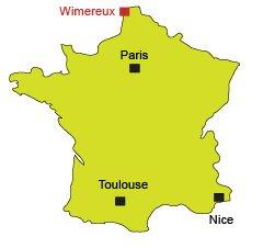 Localisation de Wimereux sur la Côte d'Opale