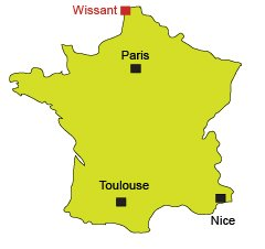 Location of Wissant in France
