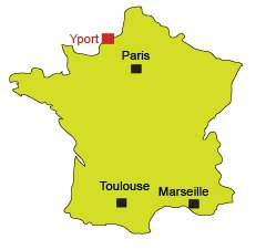 Location of Yport in Normandy