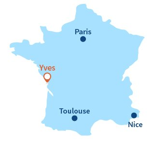 Location of Yves in France