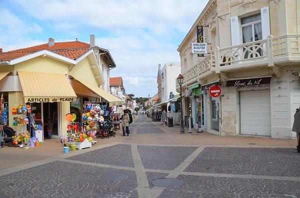 Rue piétonne de Soulac sur Mer