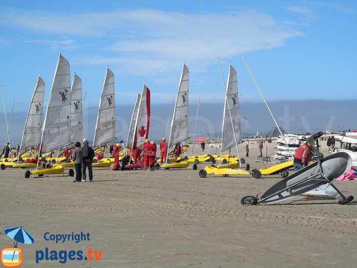 Sand yachting in Le Touquet in France