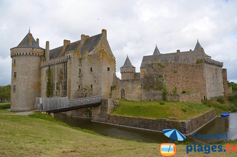 Chateau de Suscinio sur la presqu'ile de Rhuys dans le Morbihan