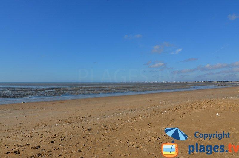 Chatelaillon-Plage à marée basse