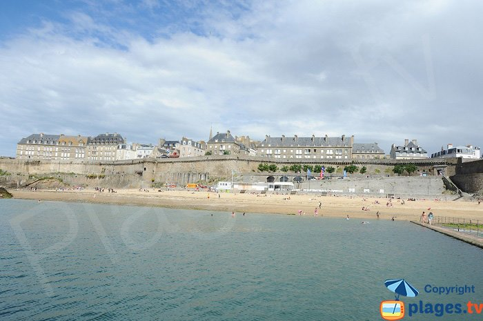 The Old town of Saint Malo in France