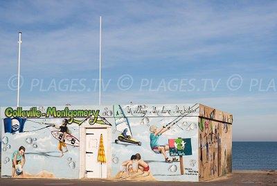 Colleville-Montgomery: une illustration pour sa plage sur le poste de secours