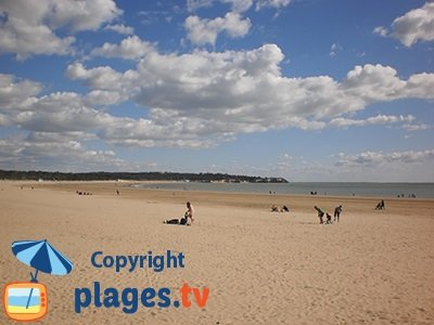 Beach in Saint Georges de Didonne in France