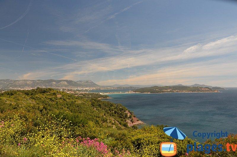 Corniche du Cap Sicié avec vue sur St Mandrier