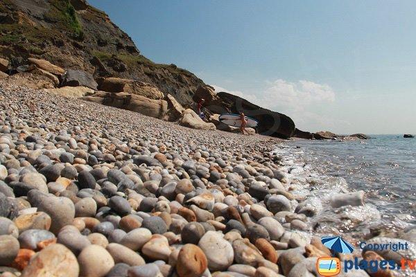 Galets sur la plage du Cran aux oeufs d'Audinghen