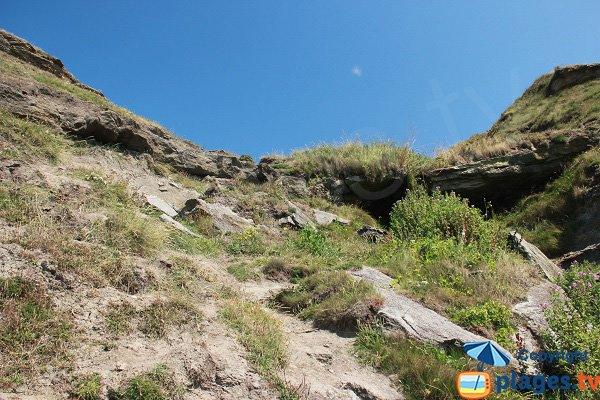 Sentier d'accès au cran aux oeufs - Audinghen