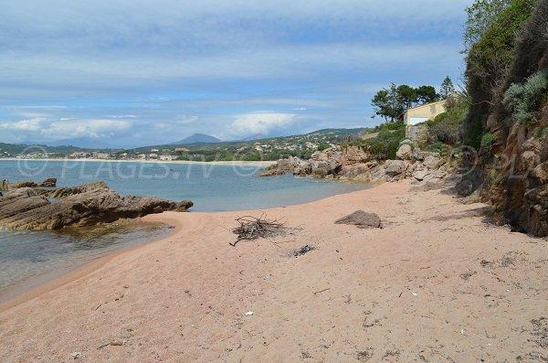 Photo of Agosta cove in Pietrosella (Corsica)
