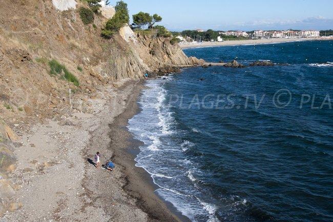Una cala a Argelès con vista sulla spiaggia di Racou