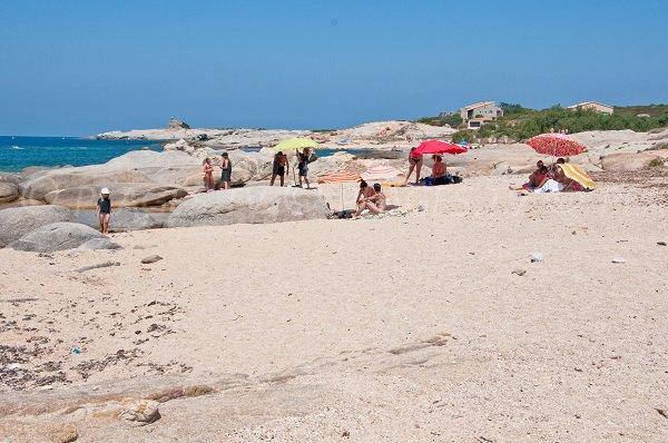 Crique de sable de l'Arinella à Lumio