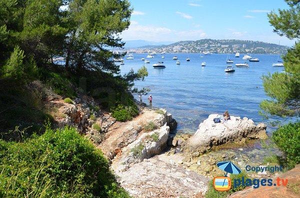 crique de la Batterie face à Cannes - Ile de Lérins