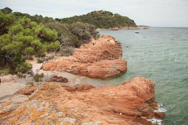 Small cove on the Benedettu peninsula - Corsica
