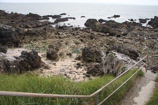 Accesso alle spiagge della Vergine Maria a Pouliguen