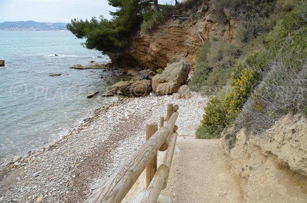 Plage du Bramaraou à St Cyr sur Mer dans le Var