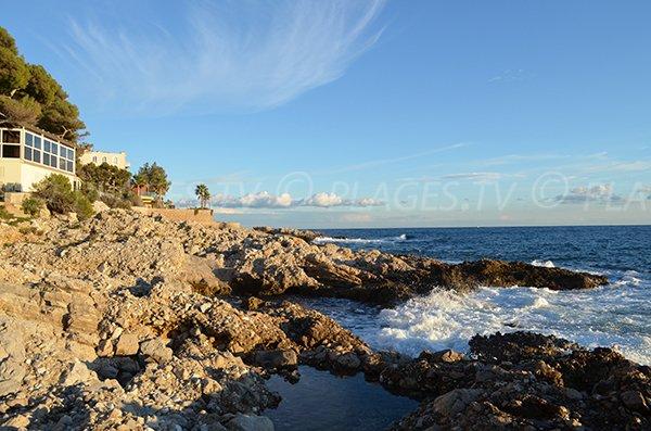 Natural pools in Cap d'Ail