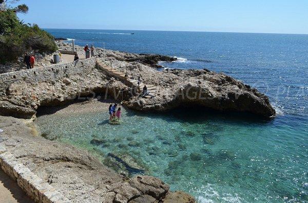 Beach in a corner of the coastline in Cap d'Ail
