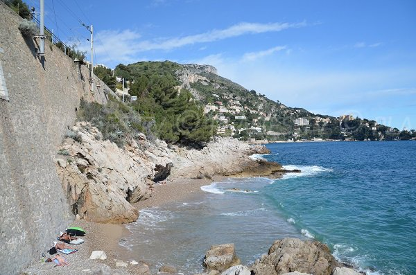 Nudist beach in Eze
