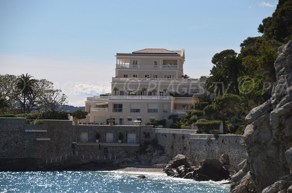 Beach of Cap Estel Hotel in  Eze